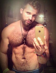 Man, body, phone, selfie, mirror, male, beard.