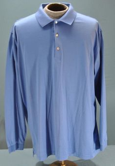 1ebf8ab52551 Details about Peter Millar XXL Summer Comfort Golf Polo Shirt Blue Short  Sleeve Mens 2XL