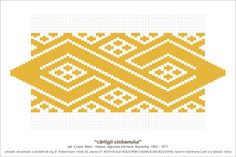 Semne Cusute: MOTIVE: carligii ciobanului (P37, M23) Folk Embroidery, Tapestry Crochet, Pattern Books, Hama Beads, Beading Patterns, Pixel Art, Diy And Crafts, Cross Stitch, Traditional