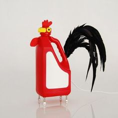 Raising Cool Kids — Cute critter lamps made from detergent bottles....
