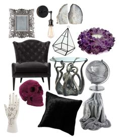 """""""Home of the witch."""" by sarabroadhurst on Polyvore featuring interior, interiors, interior design, home, home decor, interior decorating, WALL and Mapleton Drive"""