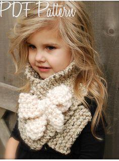 Knitting PATTERN-The Bowlynn Scarf Toddler by Thevelvetacorn