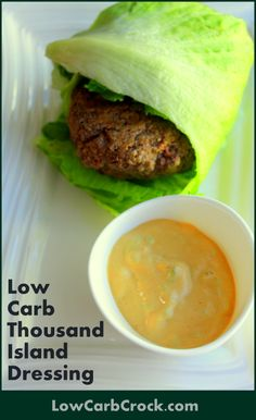 Delicious Easy Low Carb Thousand Island Dressing @ lowcarbcrock.com