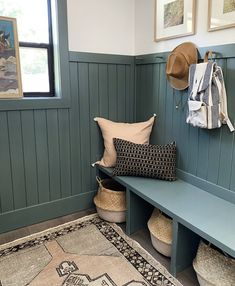 Evergreen House: Mudroom Reveal (and Our Favorite Moody Paint Colors!) - Juniper Home House Design, Room, Mudroom, House, Interior, Home, Evergreen House, House Interior, Mudroom Laundry Room