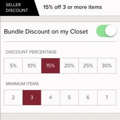 BUNDLE DISCOUNT  JUST SAVED BUNDLE DISCOUNT OF %15 on 3 items or more don't miss out!!! Shop shop shop!! Will only leave for a few days! So take advantage. More items coming to closet soon!! Other