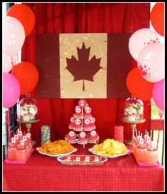 canada day party | Kara's Party IdeasKara's Party Ideas