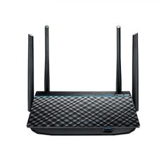 Power-Up - ASUS Dual-Band Super-Fast Wifi Gigabit Router with MU-MIMO and USB ** Make sure to check out this remarkable product. (This is an affiliate link). Best Wifi Router, Best Wireless Router, Gaming Router, Internet Router, Wi Fi, Dual Band Router, Mini Pc, Technology, Black