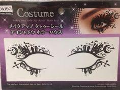 Halloween Makeup Tattoo Sheet Sticker Face Decor eye shadow Horror House  black