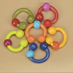 B.toys - Zestaw pierścieni – grzechotek – gryzaków #gryzaki #grzechotki