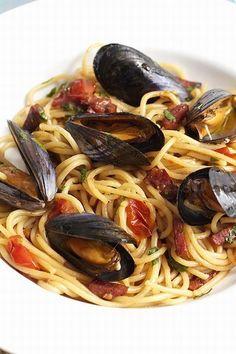 Spaghetti with Mussels and Chorizo