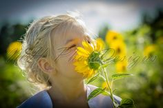 Nikki taking time to smell the sunflowers - Children Photo © MH PhotoDesigns 2013