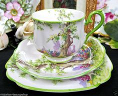ROYAL ALBERT TEA CUP AND SAUCER TRIO GREENWOOD TREE PATTERN TEACUP | eBay
