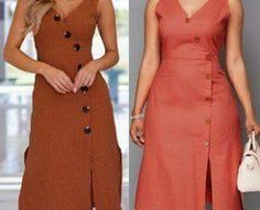 DIY - molde, corte e costura - Marlene Mukai Pakistani Dresses Casual, Casual Dresses, Thrift Store Fashion, Gown Pattern, Long Shirt Dress, Indian Designer Outfits, Dress Sewing Patterns, Two Piece Dress, Diy Dress
