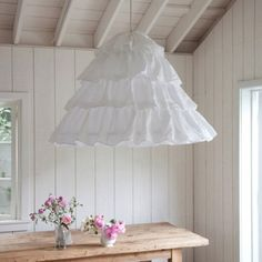Dining room lamp inspiration!! Simply adore this idea! Shabby Chic By Rachel Ashwell