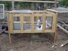 Build a rabbit hutch with pallets