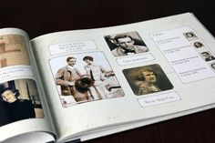 Custom Family History Books ~ www.picturesandstories.com photo layout