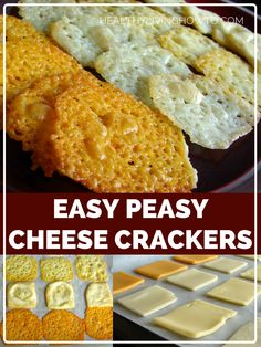 Easy Peasy Cheese Crackers - Low Carb, Gluten Free by lilly No Carb Recipes, Ketogenic Recipes, Snack Recipes, Cooking Recipes, Ketogenic Diet, Recipes Dinner, Carb Free Foods, Carb Free Snacks, Cooking Kale