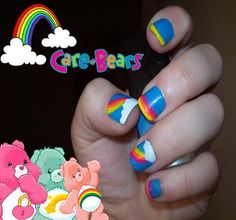 care bears nail art