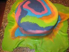 Tie Dye Fondant Cake Tutorial