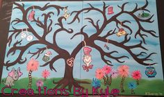 Fingerprint tree guest book. Dr. Suess Themed baby shower.