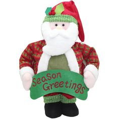 """Holiday Time 40"""" Tall Pop-Up Indoor Santa Christmas Decoration. Holiday Time Pop-Up Indoor Santa Christmas Decoration, 40"""" Tall: 17""""L x 7""""W x 40""""H Simply pull up to extend the greeter into full size, push down for easy storage 83 percent polyester, 7 percent iron, 4 percent wood, 4 percent sand, 2 percent MDF See all Christmas Value Bundles. Check out the entire selection of Christmas decorations on Walmart.com. Find Christmas trees, stockings, wreaths and Christmas lights, all at low…"""