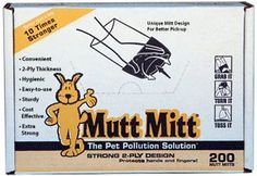 Mutt Mitt Dog Waste/Poop Pick Up Bag, 200-Count