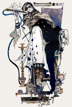 The Art Of Animation, Akiya_kageichi - . Art And Illustration, Illustrations, Art Inspo, Bel Art, Pierrot Clown, Art Japonais, Photo D Art, Art Design, Pretty Art
