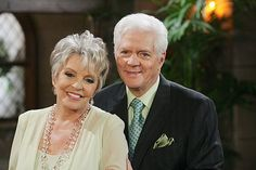 Bill and Susan Seaforth Hayes (Doug and Julie Williams of Days of Our Lives)    Father and Step Mother of Hope Brady.