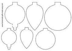 Resultado de imagem para desenhos de bolas de natal para imprimir