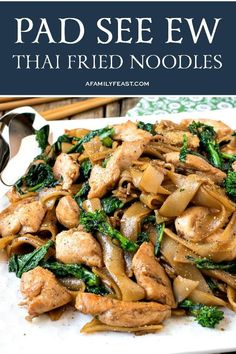 Just like the dish served at your favorite Asian restaurant, make authentic Pad See Ew (Thai Stir-Fried Noodles) at home with this easy recipe! Curry Noodles, Stir Fry Noodles, Parmesan Potato Stacks Recipe, Vegetable Recipes, Chicken Recipes, Pad See Ew, Asian Recipes, Ethnic Recipes, Oriental Recipes