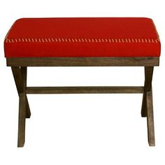 Red Cloth Stitched Bench - Threshold™