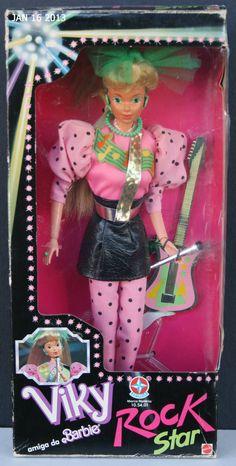1980s ESTRELA ROCK STAR VIKY MIB Brazil Steffie Gorgeous Foreign Barbie doll WOW | eBay