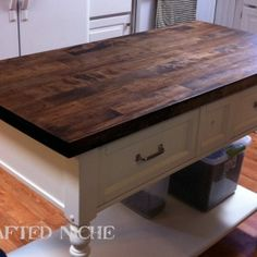Furniture: Table Top Wood Table Personable Butcher Block Table ...