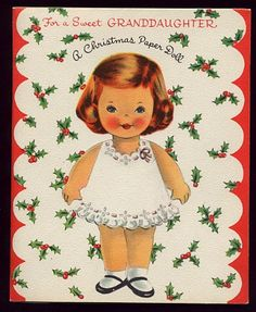 1950 CHRISTMAS - Paper Doll w/ outfits
