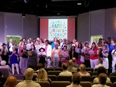Women of Unity singing to the men for Father's Day 2017