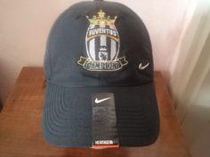 CAP HAT CAPPELLO NERO NIKE SWOOSH METAL JUVENTUS CAMPIONI ITALIA 2013-2014