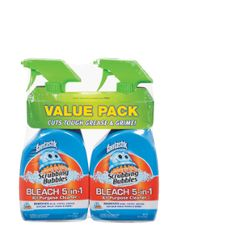 Scrubbing Bubbles with Fantastik Bleach All Purpose Cleaner Spray 32Fl Oz 2Pk
