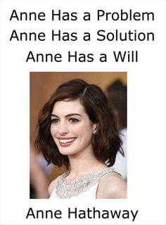 Anne Hathaway XD