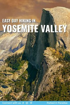 Tips and tricks for finding the best easy day hiking in Yosemite Valley California. Yosemite National Park is a great place to take families and awesome things to do like photography and view wildlife. But you can also do adventure backpacking, climbing half dome, camping, drawing and plenty of other ideas! A great place to stop on your RV or motorhome road trip. Take a diy campervan conversion or 5th wheel travel trailer.