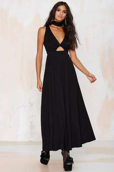 Nasty Gal Make or Break Cutout Maxi Dress - Black - Sale