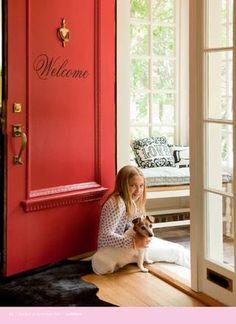 front door-red or gloss black