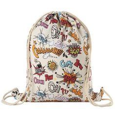 new fashion backpack 3D printing travel softback man women harajuku drawstring bag mens canvas backpacks