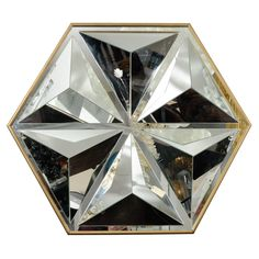1970's American Hexagonal Mirror  - I need to find this for the Nightclub Redesign.
