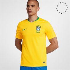 396755b6390d2 Nike 2018 Brasil Cbf Stadium Home Men s Soccer Jersey -