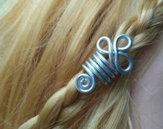Cuenta vikinga. Accesorio para el pelo. Bisuteria vikinga. Cuenta para pelo