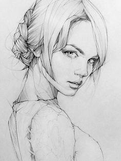 Pencil Portrait Drawing, Portrait Sketches, Art Drawings Sketches Simple, Pencil Art Drawings, Realistic Drawings, Beautiful Drawings, Portrait Art, Painting & Drawing, Drawing Portraits