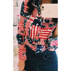 American Flag theme inspired Jacket Cute American flag inspiration by H&M on a jacket. Has never been worn out before, I've worn it at home once or twice but is practically new and an original. H&M Jackets & Coats