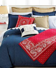 Lauren Ralph Lauren University Denim Bedding Collection - Bedding Collections - Bed & Bath - Macy's
