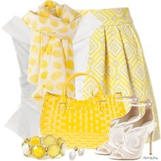 When Life Gives You Lemons - Make a scarf!, created by stylesbyjoey on Polyvore
