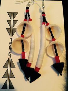Dentallium & Clam Shell Earrings by TLeeMcGinnisDesigns on Etsy